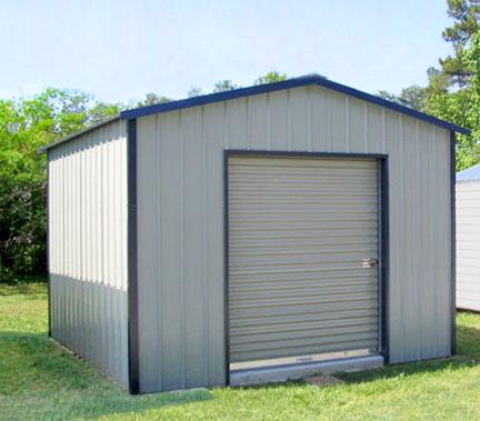 Metal garages sheds and storage buildings custom built for Steel storage sheds