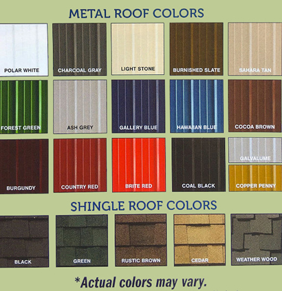 Metro Shed Roof Colors